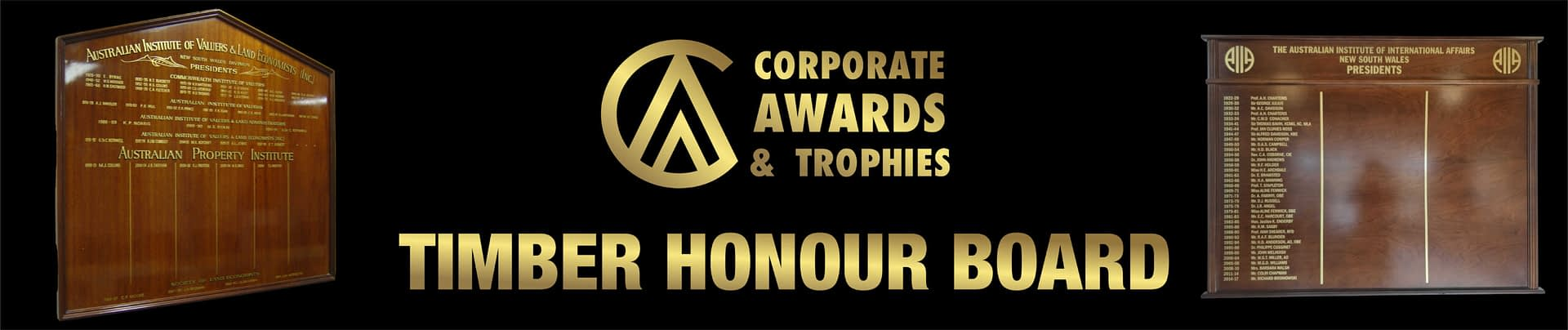Timber Honour Boards