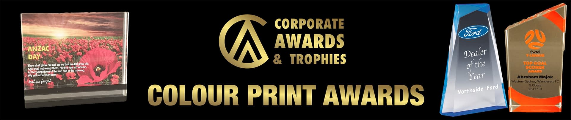 Awards with Colour Print